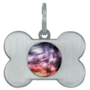 Rainbow Swoosh Pet ID Tag