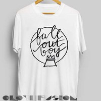 Unisex Premium Fall Out Boy T shirt Handwriting Design Clothfusion