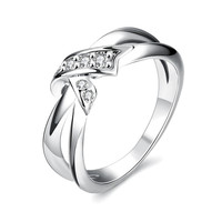 Accent Infinity Loop White Gold Plated Ring