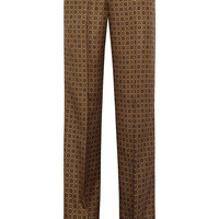 Michael Kors Collection - Printed silk wide-leg pants