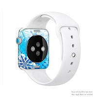 The Winter Abstract Blue Full-Body Skin Kit for the Apple Watch