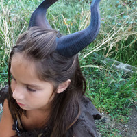 BEST SELLING! Classic Young Maleficent Inspired Horns  3D Printed  Dark Brown Horns comic-con