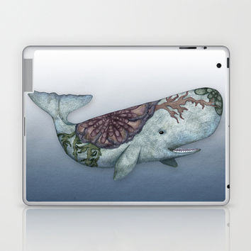 Whale in the Deep - a hand drawn illustration Laptop & iPad Skin by Perrin Le Feuvre