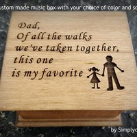 music box, wedding music box, wedding favor, father of bride gift, personalized gift, wedding gift, to the first man I ever loved