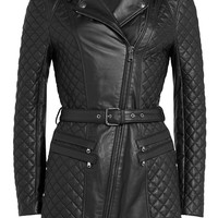 Pierre Balmain - Quilted Leather Coat