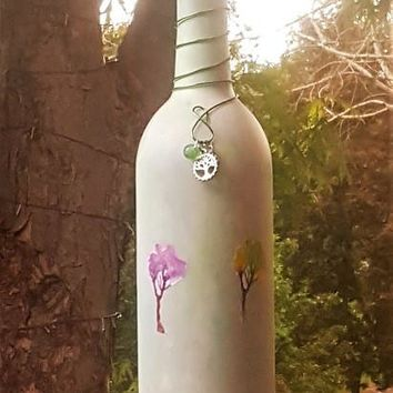 Watercolor Trees Incense Smoking Bottle