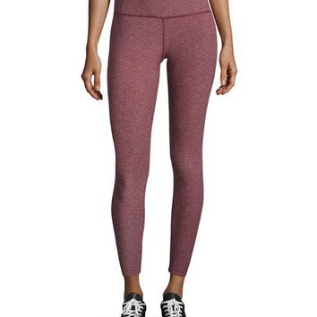 The North Face Super Waisted Performance Leggings, Deep Garnet Red Heather