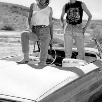 Thelma And Louise Poster Standup 4inx6in black and white