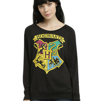 Harry Potter Hogwarts Crest Girls Pullover Top