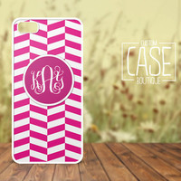Personalized iPhone 4 / 4s or iPhone 5 Case - Plastic iPhone case - Rubber iPhone case - Monogram iPhone case - CB001