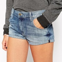 Wildfox Michelle Turned Up Denim Shorts