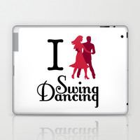 I (Dance) Swing Dancing Laptop & iPad Skin by Natalie Ryder
