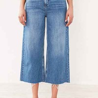 BDG Cropped Denim Culotte - Indigo - Urban Outfitters