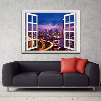 Canvas painting  Wall art picture building poster decoration art wall Picturer prints Outside the Window  home decor no frame