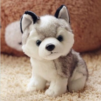 Kawaii 22 CM Simulation Husky Dog Plush Toy