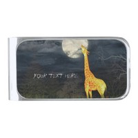 Giraffe and Moon | Custom Money Clip