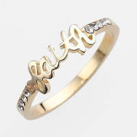 Ariella Collection 'Messages - Faith' Script Ring (Nordstrom Exclusive) | Nordstrom