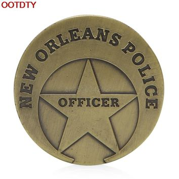 OOTDTY Collectible Coin Saint Michael New Orleans Police Commemorative Challenge Coin Collection Gift
