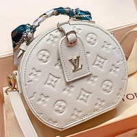 LV New fashion monogram print leather shoulder bag handbag crossbody bag