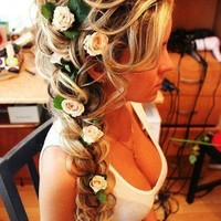 braid with flowers - Google Search