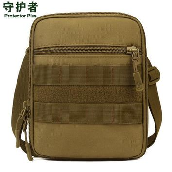 Protector Plus A007 Outdoor Sports Bag Camouflage Nylon Tactical Military Molle EDC Pouch Hiking Cycling Messenger Bag