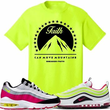 Air Max White Rush Pink Volt Sneaker Tees Shirt to Match - MOVE MOUNTAINS