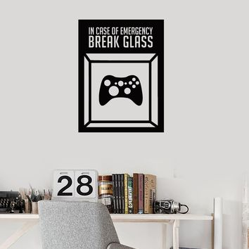 Vinyl Wall Decal Gamer Room Art Idea Joystick Video Games Funny Stickers Mural (ig5288)