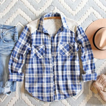Lake Cabin Plaid Top