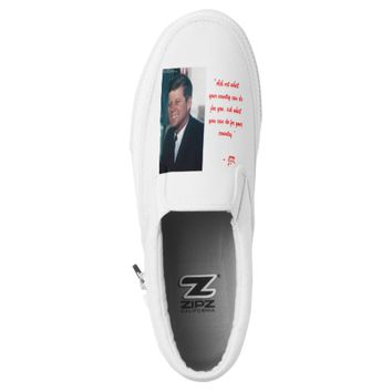 "JFK & ""Ask Not.."" Quote Shoes by Shoes That Amuse"