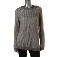 Calvin Klein Womens Knit Striped Pullover Sweater