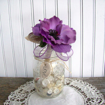 Wedding Guest Book Pen, Purple Wedding, Rustic Burlap Wedding, Wedding Decoration, Wedding Ceremony