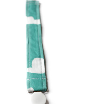 Pacifier Clip Tiffany Clouds