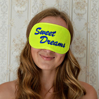Sweet Dreams Sleep Mask Felt Sleep Eye Mask Sleeping Women Unisex Eyemask Embroidery Handmade Gift Accessories m6