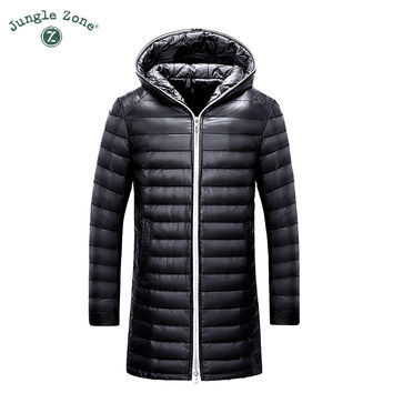 Winter new Men's Down Jacket White Duck Down Jacket Coat Men's Casual Thin Hooded Down Jackets