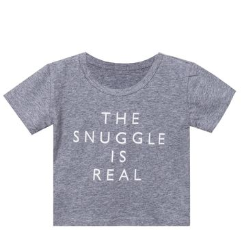 The Snuggle Is Real Printed Infant Tshirt