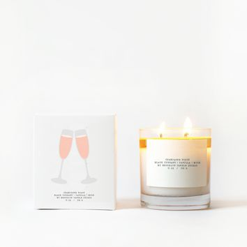 Champagne Toast Candle with Graphic Box