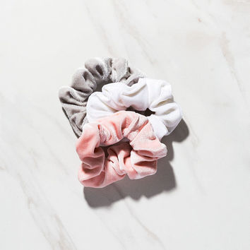 FULL TILT 3 Pack Velvet Scrunchies