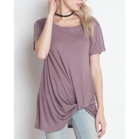 dreamers - knot your babe - tshirt - dusty purple
