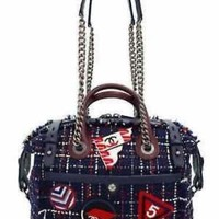 Unsed CHANEL 2016SS Airline 2 Way Bowling Bag A 93310 Women's 2 Way Bag