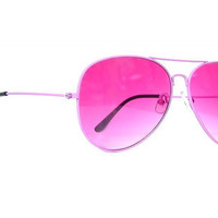 Vintage Aviator Sunglasses Pink Deadstock Avatiors Pink Unisexxy for Women and Men