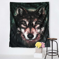 Wolf Tapestry 3D Printed Cool Hippie Tapestry Vivid Life Wall Art Carpet 130x150cm 150x200cm tapisserie