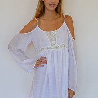 Laced Cold Shoulder Dress