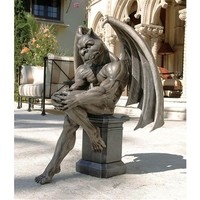 SheilaShrubs.com: Socrates, The Gargoyle Thinker Statue DB383050 by Design Toscano: Garden Sculptures & Statues