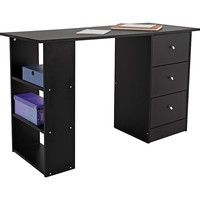 Buy Malibu 3 Drawer Desk - Black at Argos.co.uk - Your Online Shop for Desks and workstations.