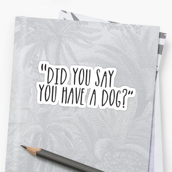 'Dog?' Sticker by Megan Carney