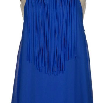Fringe Dress - Royal