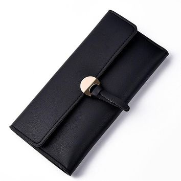 2017 Unique Design Women Fashion Leather Wallet Leisure Clutch Bag Long Purse Girl Female portefeuille Mme A8