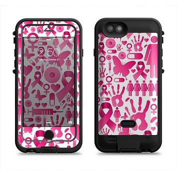 The Pink Collage Breast Cancer Awareness Apple iPhone 6/6s LifeProof Fre POWER Case Skin Set