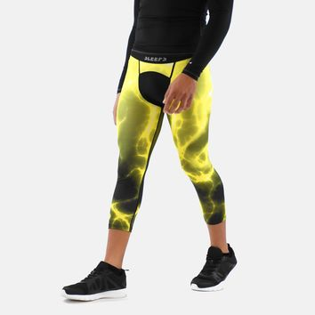 Electric Yellow 3/4 Tight for men