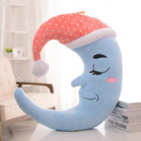 Plush Toys Cute Doll Girl Sleeping Moon Doll Birthday Pillow